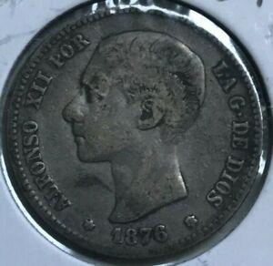 1876 Spain 1 One Peseta