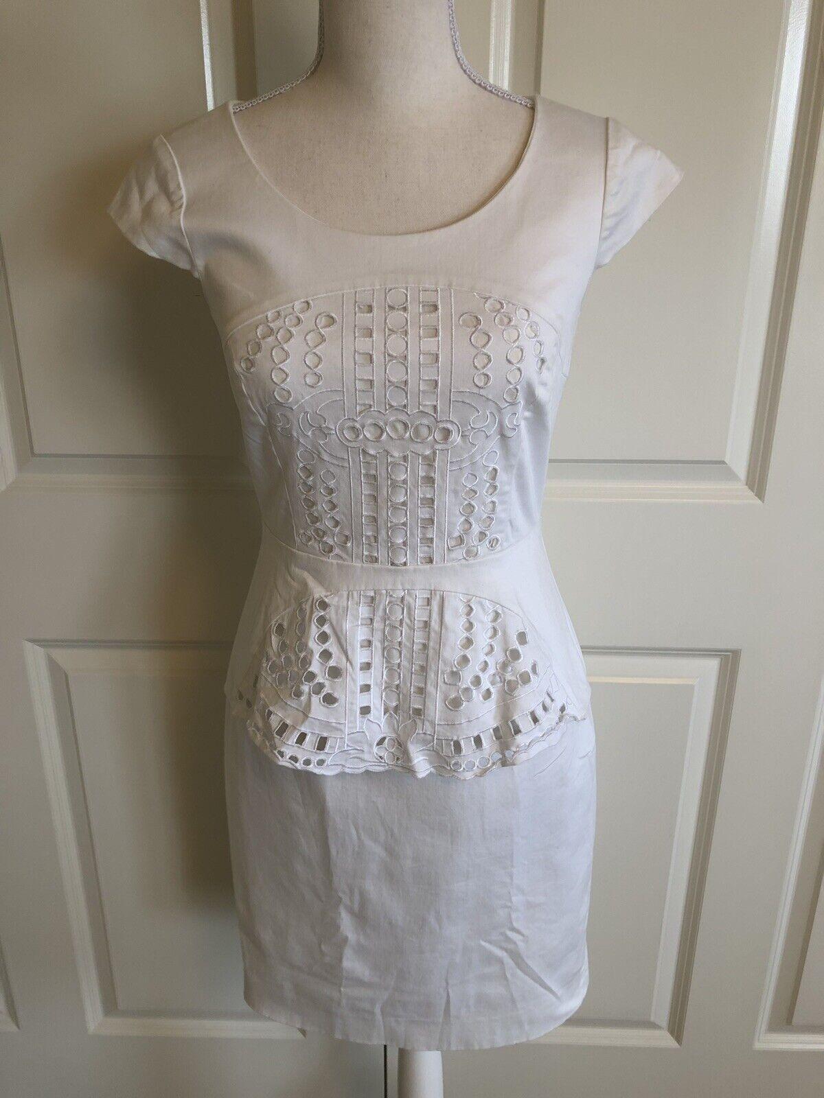 e15fc0e7e9 ... Antonio Melani White Peplum Dress Lined Size Size Size 2 c02fc5 ...