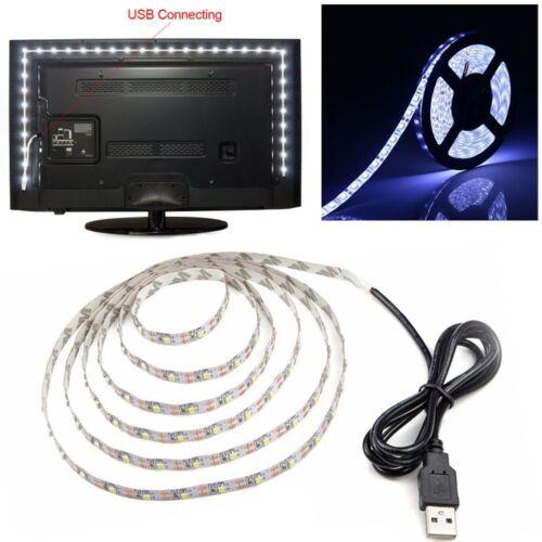 Warm RGB Lampe Für TV Dekorativ DC5V USB LED Streifen Licht 3528 Chip Weiß