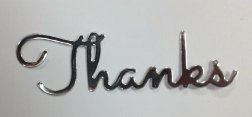 Thanks Words Metal Die Cut stencil Impression Obsession Craft Cutting Dies