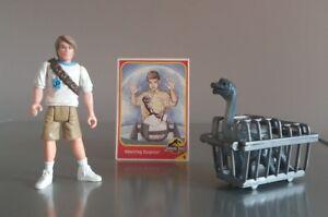 Rare-Jurassic-Park-Tim-Murphy-Figure-amp-original-dinosaur-card-Kenner-1993