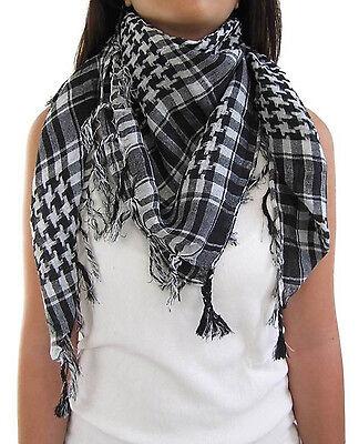 Unisex Checkered Arab Keffiyeh Shemagh Arabian Head Scarf Shawl Hijab Neck Wrap