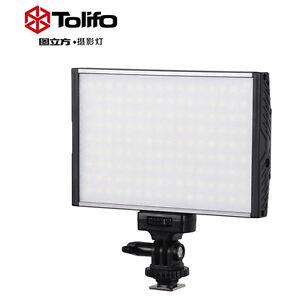PRO 1200LM Tolifo Pt-15b Video Light Panel w/ Hotshoe for DSLR