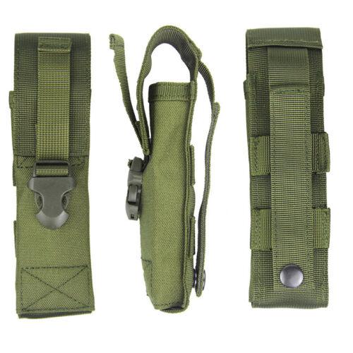 1000D Nylon Military Tactics Flashlight Pouch Holster Belt Holder Torch Bag