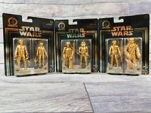 Star Wars Commemorative Edition Skywalker Saga Gold 3 (2-Packs) Han, Luke, Darth