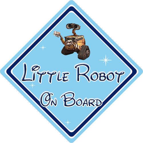 Little Robot On Board Car Sign - Baby On Board - Disney Wall-E