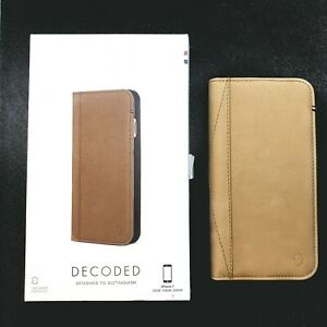 original new Decoded DA6IPO7CW3SA Leather Wallet Case Apple iPhone 7 8  SE 2020