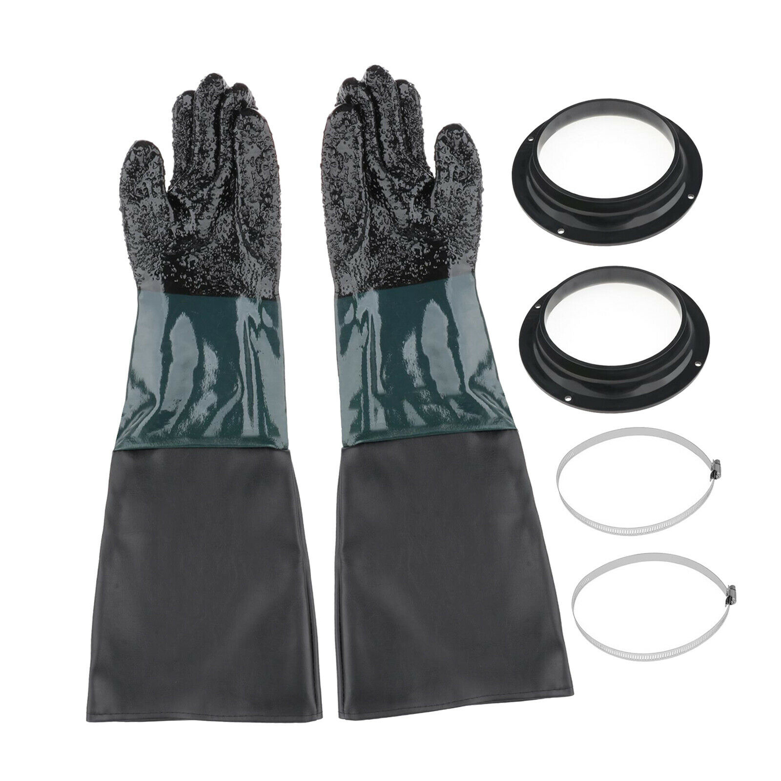 1 Pair of Heavy-duty 24'' Sandblasting Gloves Replacement Labour for Cabinet