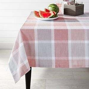 Image Is Loading Crate And Barrel SORBET PLAID TABLECLOTH 60 034