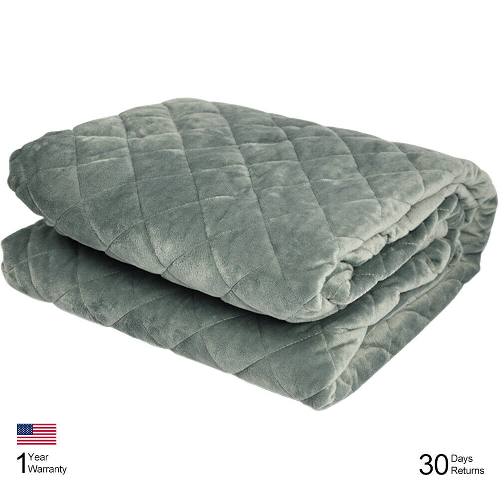 Bedroom Decor Weighted Blanket Cover 60''x80'' w  Zipper Heavy Blanket Cotton YR