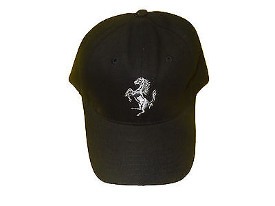 Licensed From Ferrari Offical Ferrari Black Hat Silvery Grey Crest Rare