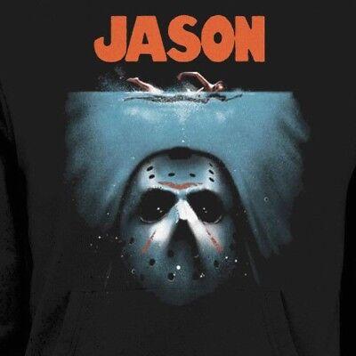 HORROR MOVIE KILLER JASON *JAWS* PARODY WINTER SWEAT SHIRT MANY SIZES