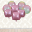 4D LASER STANDING PINK UNICORN+CUBES+GRADIENT+CHROME BALLOONS Birthday Party LOT
