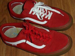men 13 ~ red white gum sole old skool