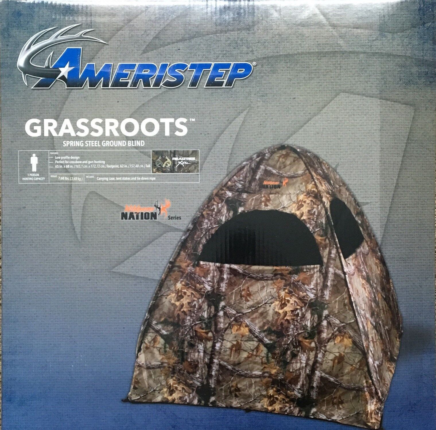 AMERISTEP GRASSROOTS DEER HUNTING BLIND WildgameNation Camo Realtree Xtra Turkey