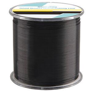 Black 500m monofilament fishing line nylon mono line for Black fishing line