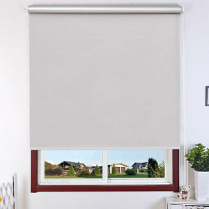 "22""x60"" Roller Full Blinds Sunscreen Blackout Sun Shade Curtain Window"
