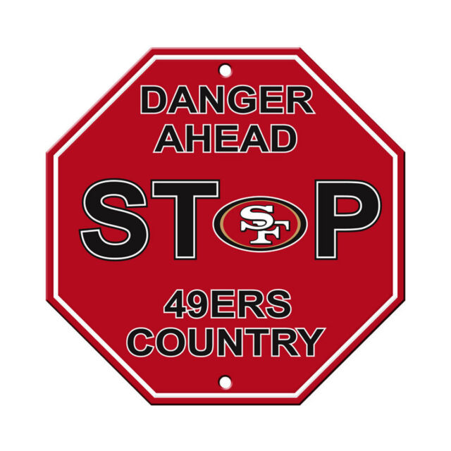 5bc6833af1a4b Fremont Die Consumer Products F90505 Styrene Stop Sign San Francisco 49ers