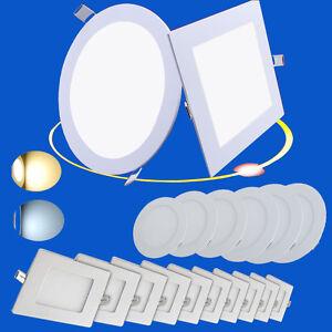 ultraslim led panel einbau decken wandleuchte einbaustrahler leuchte mit trafo ebay. Black Bedroom Furniture Sets. Home Design Ideas
