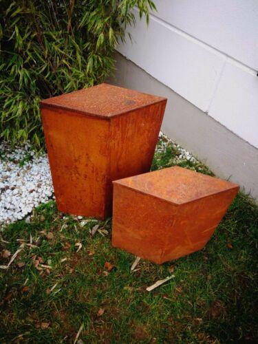 Garten Edelrost Klappbar Ständer Konus Rost H50 und H70cm 1.2mm material 2St