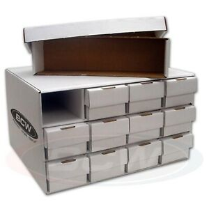 1-Stackable-Cardboard-Sports-Card-House-with-12-800-Count-2-Piece-Storage-Boxes