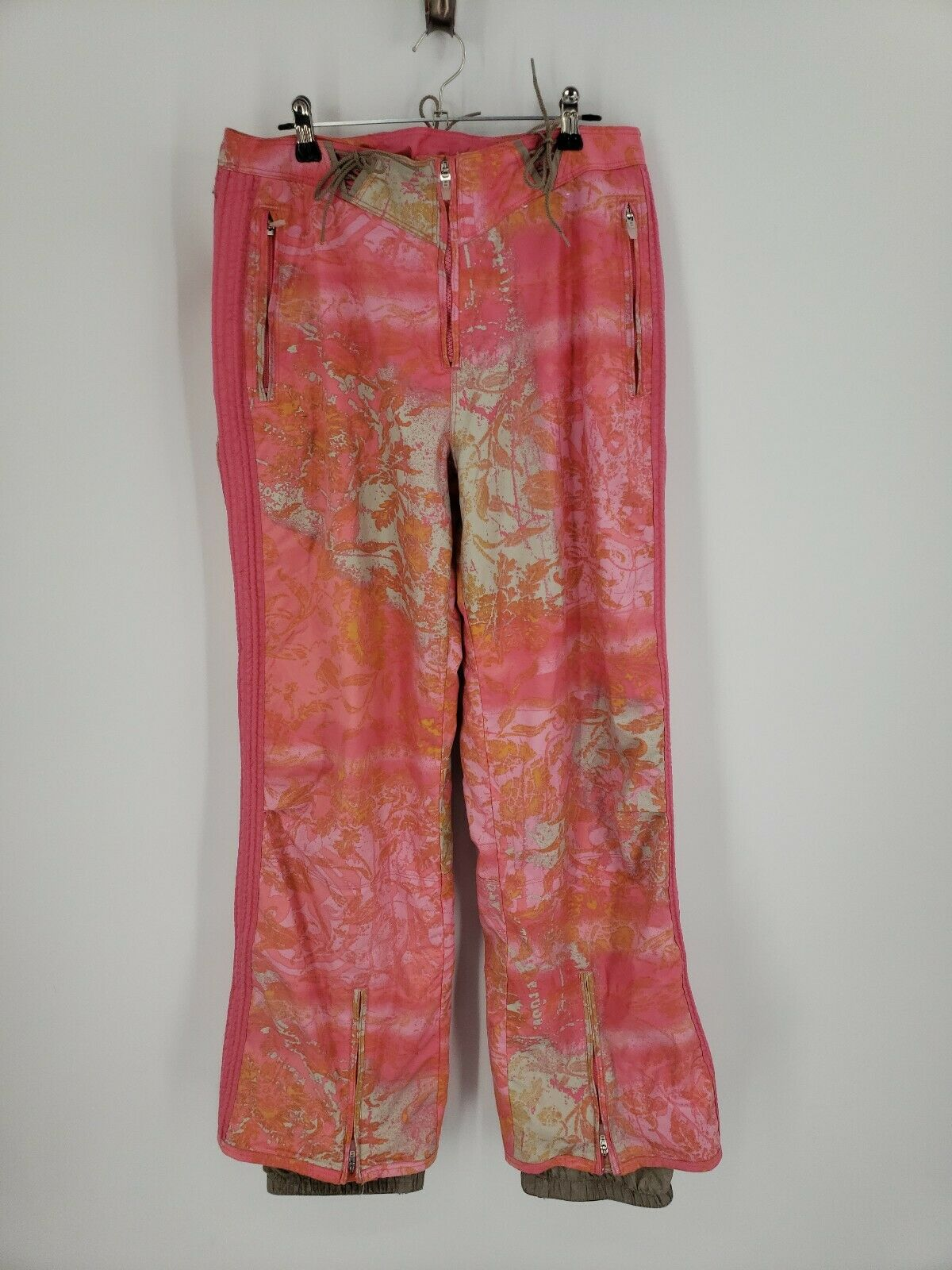 Obermeyer Dynasty Ski Pant Women's Size 8 Pink Print Floral Print Snow pants