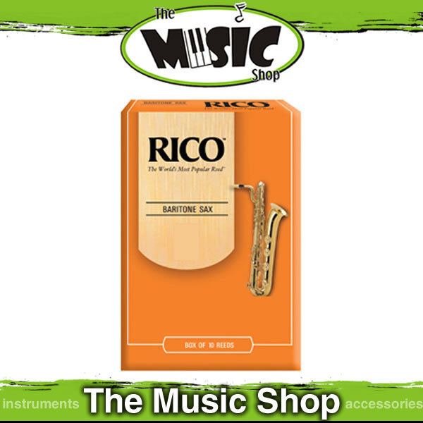 Rico 3 1 2 Strength Baritone Saxophone Reeds - Box of 10 - Sax Reed - RLA1035