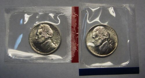 1996-P and 1996-D Uncirculated Jefferson Nickels in Original Mint Cello Packs