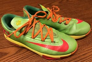 Nike 599477-300 KD VI 6 GS Big Boy s Candy Lime Yellow Green Red ... 482054836