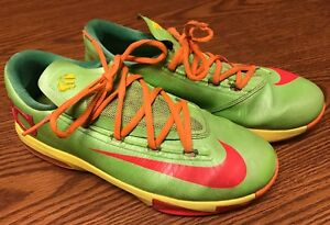 e6ebf5603d9 Nike 599477-300 KD VI 6 GS Big Boy s Candy Lime Yellow Green Red ...