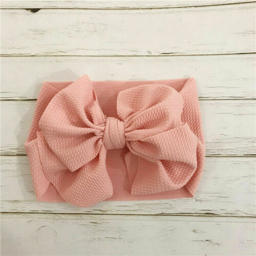Baby Girl Toddler Big Bow Hairband Headband Stretch Turban Head Wrap Headwear