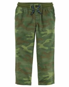 Carter/'s 5 5T Camo Camouflage Boy/'s Pants NWT Drawstring Twill Ribbed Waist