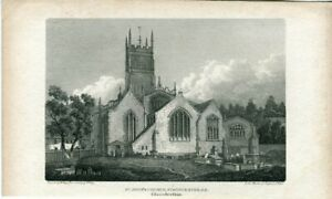 St-John-039-s-Church-Cirecester-S-E-Engraved-By-W-Angus-Of-A-Drawing-Of-W-Varley