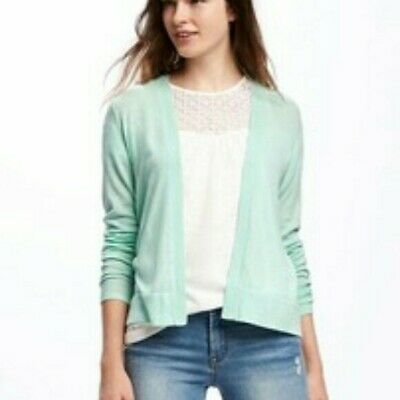 NWT Old Navy Mint Green Open Front Cardigan Sweater Size S Small