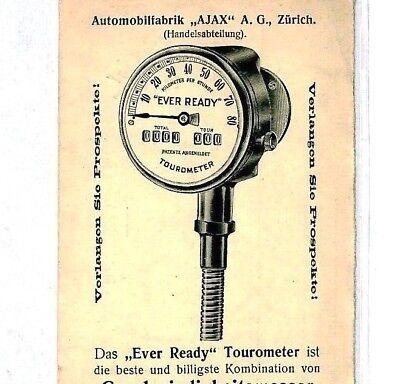 Cq185 Switzerland Cycling Advert Postcard 1937 *tourometer* Instruments Motoring Chinese Smaken Bezitten