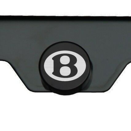 Black Chrome Bentley Titanium Gun Metal Laser Engraved T304 License Plate Frame