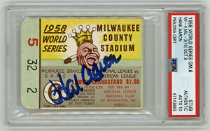 1958-BRAVES-Hank-Aaron-signed-World-Series-ticket-stub-PSA-DNA-AUTO-10-Perfect