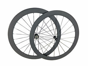 Super-Light-Road-Bike-New-UK-Stock-50mm-Tubular-Carbon-Wheels-Bicycle-Wheelset