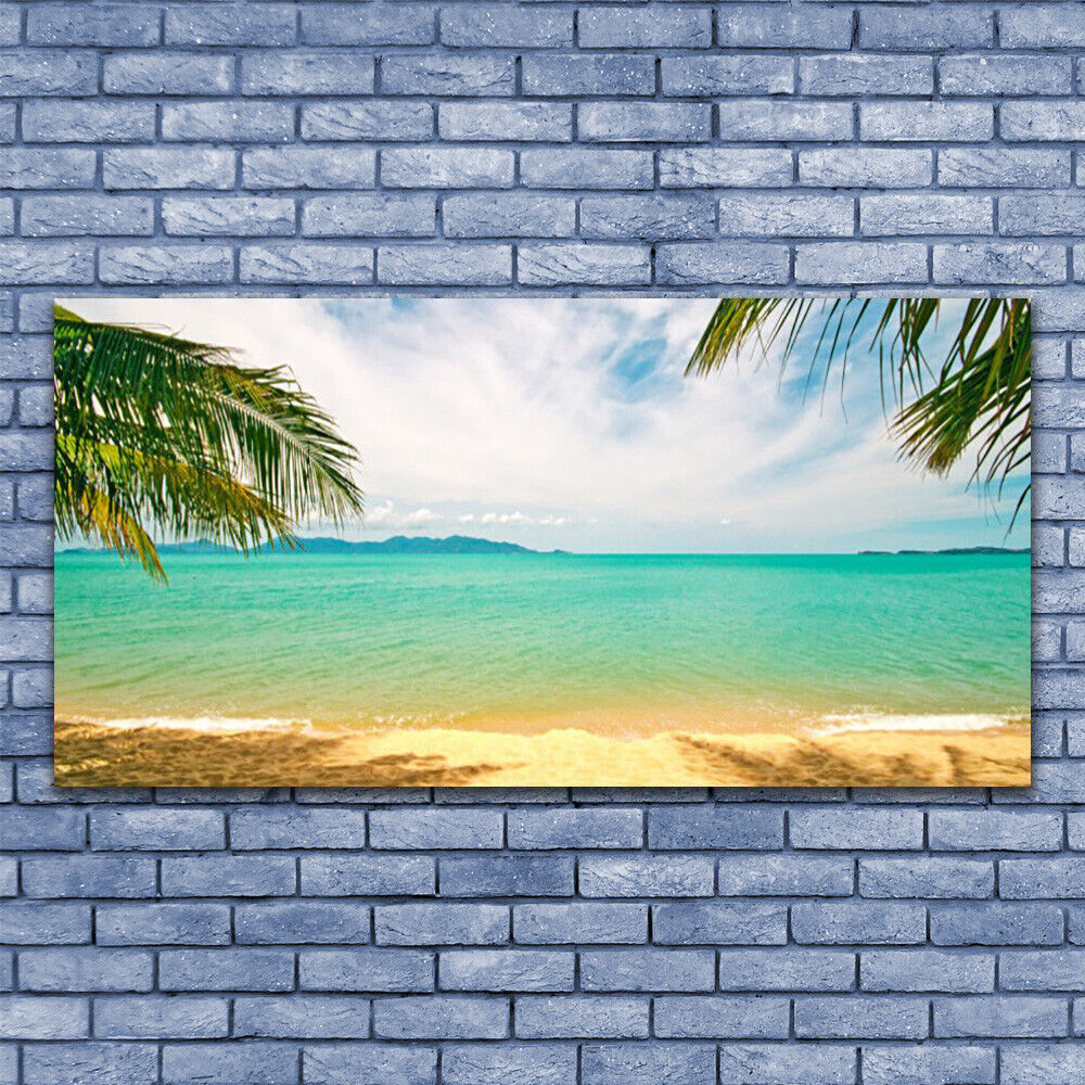 Canvas print Wall art on 140x70 Image Picture Sea Beach Landscape