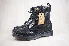 Ladies Dr Martens Black Leather Snakeskin Effect Boots Size UK 6