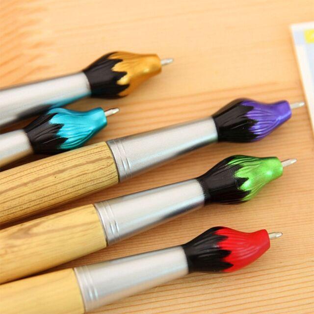 Student Stationery Creative Brush Shape Writing Ballpoint Pens Wooden Ballpens l