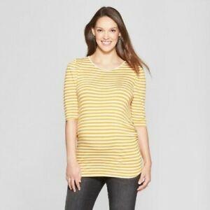 4e55c9f87eda9 Image is loading Isabel-Maternity-Long-Sleeve-Striped-Puff-Shoulder-Knit-