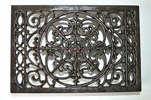 Large-cast-iron-antique-style-air-brick-grill-cover-insert-inset-grill-AG2