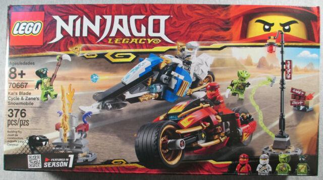 Lego Ninjago Legacy Kai S Blade Cycle And Zane S Snowmobile 70667 For Sale Online Ebay