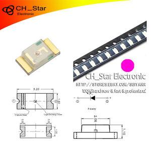 100pcs-Smd-Smt-1206-3216-Led-Rosa-diodos-emisores-de-luz-Super-Brillante