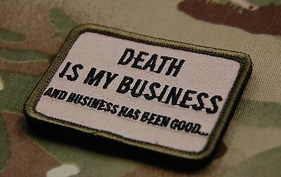 DEATH IS MY BUSINESS Multicam Morale Patch SEAL DEVGRU CAG Afghanistan ST6 SAS