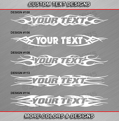 Fits FORD Custom Windshield Tribal Flame Window Decal Sticker Banner Graphic Car