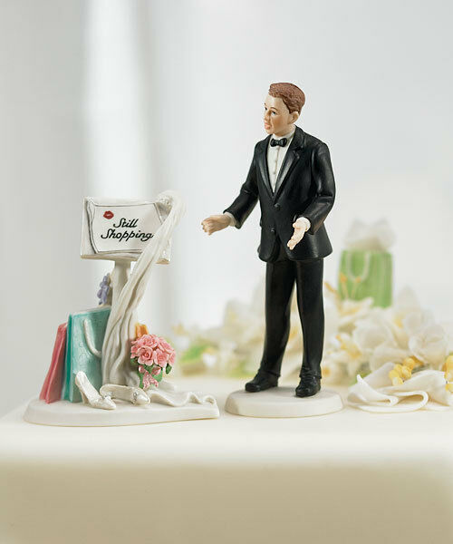 Toujours Shopping Message caucasienne wedding cake topper