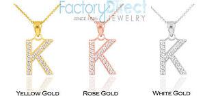 10k 14k yellow rose white gold letter k diamond initial pendant image is loading 10k 14k yellow rose white gold letter 034 mozeypictures Gallery
