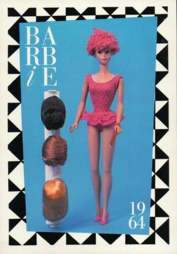"""Doll 1964 Toupee Barbie Collectible Fashion Trading Card  /"""" Miss Barbie /"""" Wigs"""